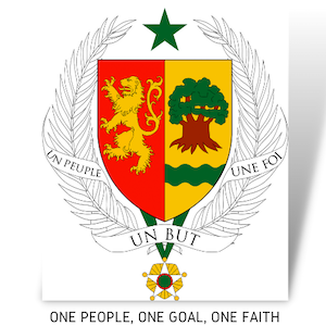 Senegal coat of arms on UP2gether